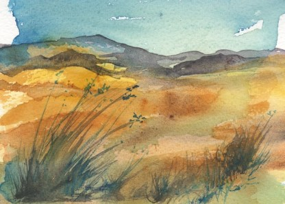 Watercolour painting. RWB0242 Long Grasses.