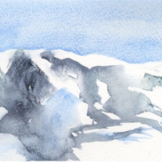 Watercolour painting. RWB0244 Snow Fields Artist: Vandy Massey