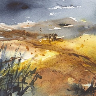 Watercolour painting. RWB0250 Welsh Hills. Artist: Vandy Massey