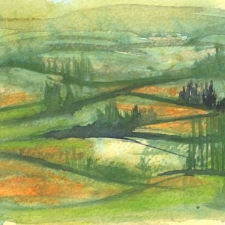 Watercolour painting. RWB0251 Fields of Gold. Artist: Vandy Massey