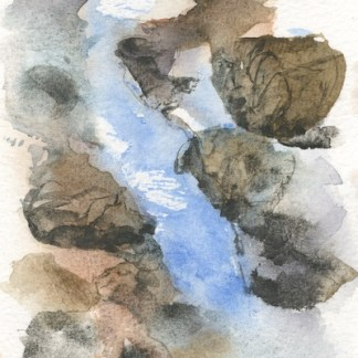 Watercolour painting. RWB0291 Tumbling Water. Artist: Vandy Massey