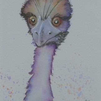 Watercolour painting. CBA001 Purple Ostrict. Artist: Carol Blythe