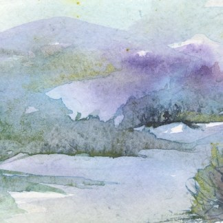 Watercolour painting. RWB0305 Lake Country. Artist: Vandy Massey