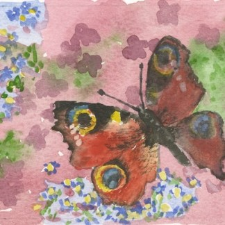 Watercolour painting. GWA003 First Signs of Spring. Artist: Gillie Whittle