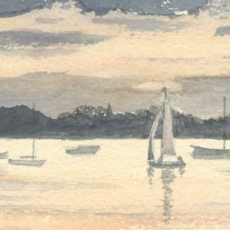 Watercolour painting. RBA004 Early Morning. Artist: Rita Browne