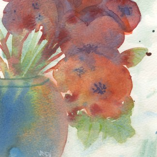 Watercolour painting. RWB0326 Summer Joy. Artist: Vandy Massey