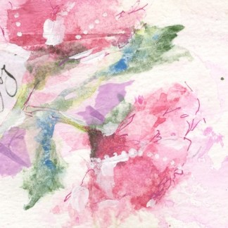 Watercolour painting. SBU005 The Two of Us. Artist: Stephie Butler