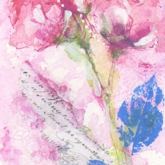 Watercolour painting. SBU007 Side by Side. Artist: Stephie Butler