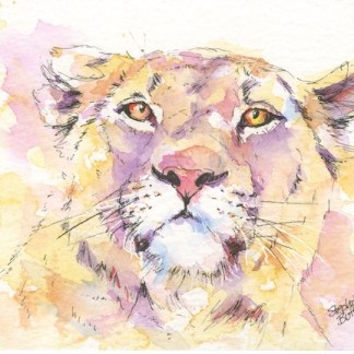 Watercolour painting. SBU012 The Matriarch. Artist: Stephie Butler