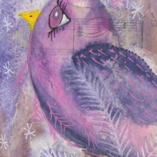 Watercolour painting. CFA011 Nightbird. Artist: Caroline Furlong