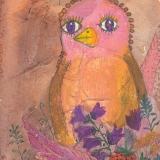 Watercolour painting. CFA014 Rarebird. Artist: Caroline Furlong