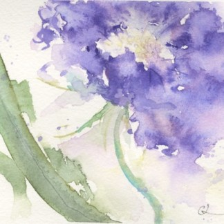 Watercolour painting. CLA004 Dancing in the Wind. Artist: Chris Lockood