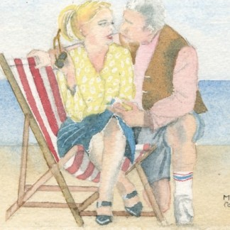 Watercolour painting. MCO001 The Proposal. Artist: Mel Collins