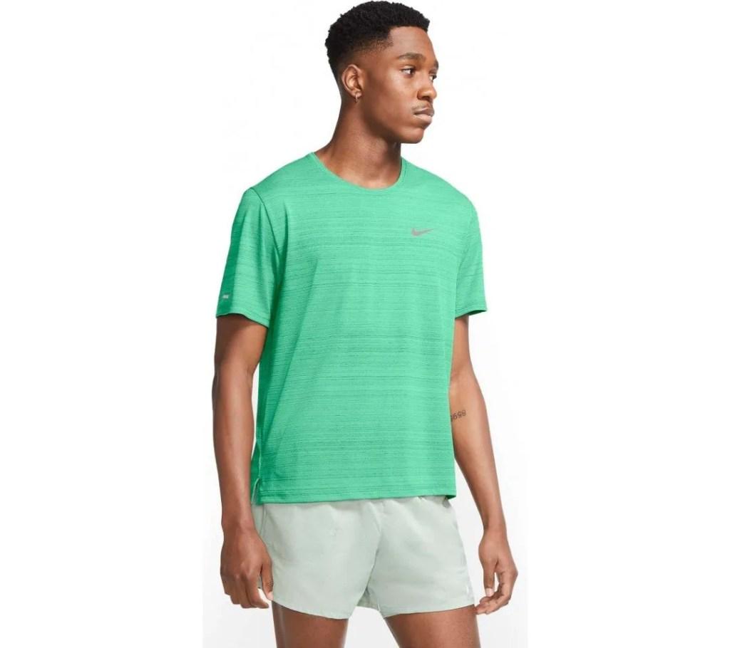 Hardloopshirt nike groen korte mouw heren