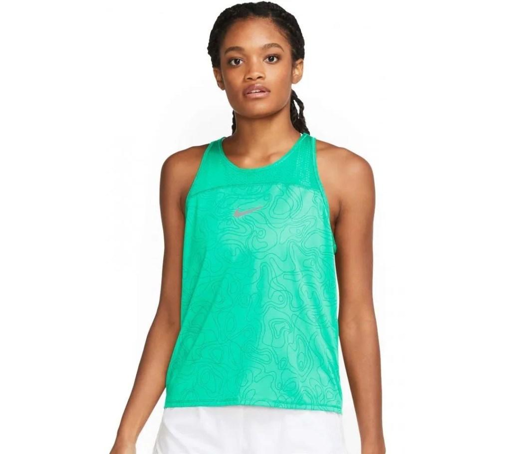 Hardloopshirt groen tanktop singlet groen nike dames
