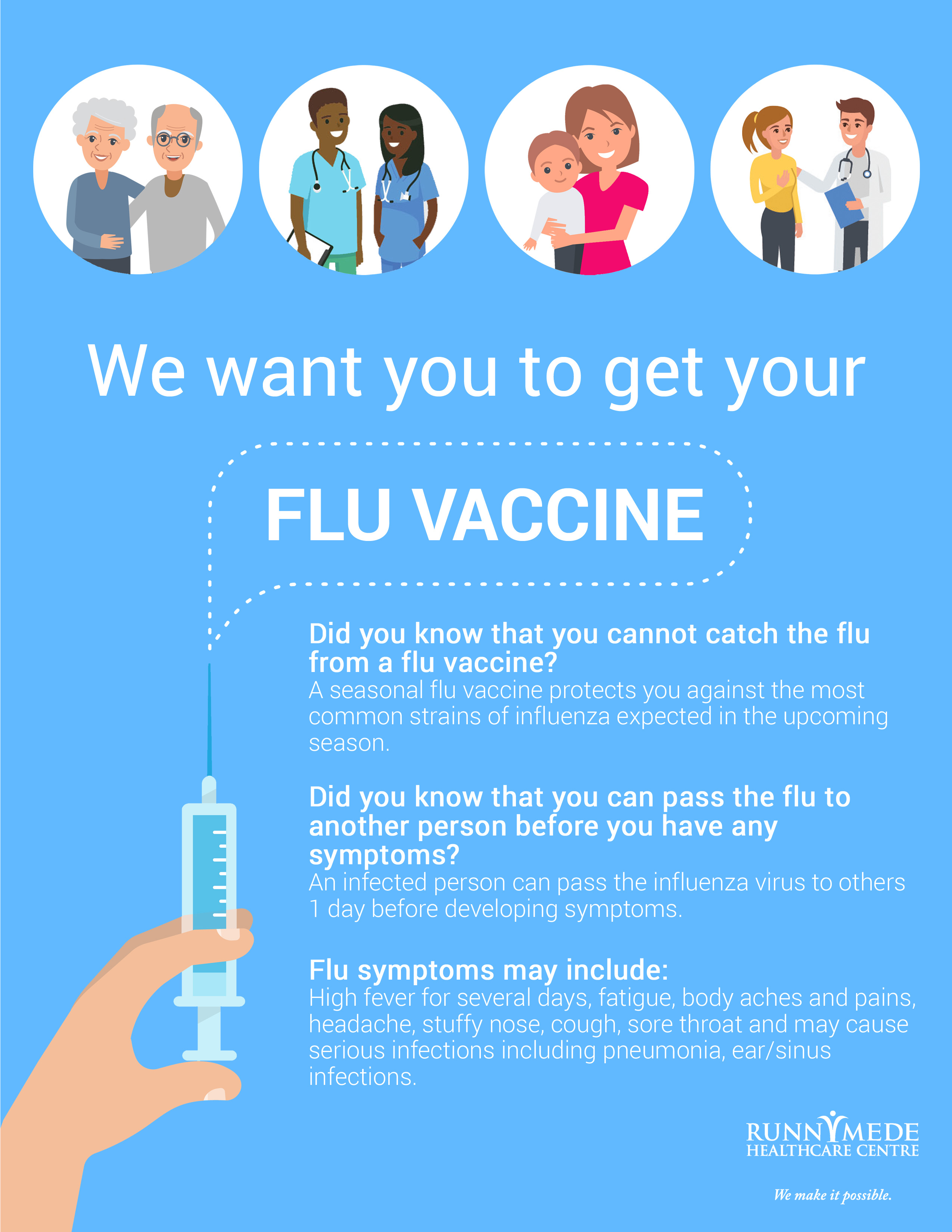 Runnymede :: We want you to get your flu vaccine