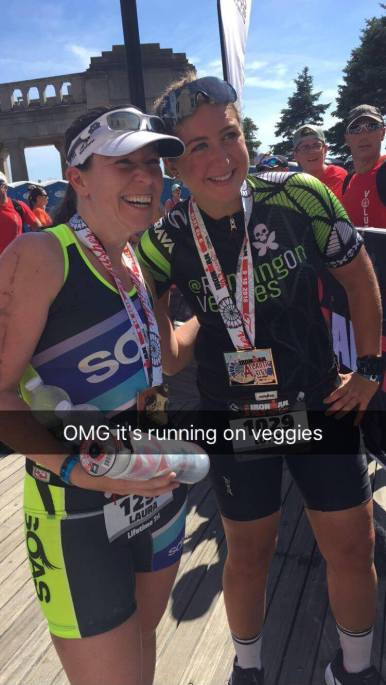 Congrats to Laura who recognized me after the race and said hi. This is always a surreal moment for me!