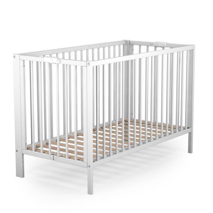 lit bebe a barreaux laque en blanc avec roulettes roba lit pliant fold up reglable a 3 hauteurs 60x120cm lits cages cuisine maison