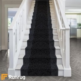70Cm Stair Carpet Runners | Grey Patterned Carpet Stairs | Unusual | Living Room | Grey Mottled | Carpet Wrapped | Geometric