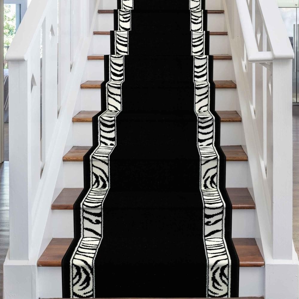 Zebra Border Stair Runner   Zebra Print Stair Carpet   Staircase Remodel   Ideas   Stair Treads   Leopard Print   Carpet Runner