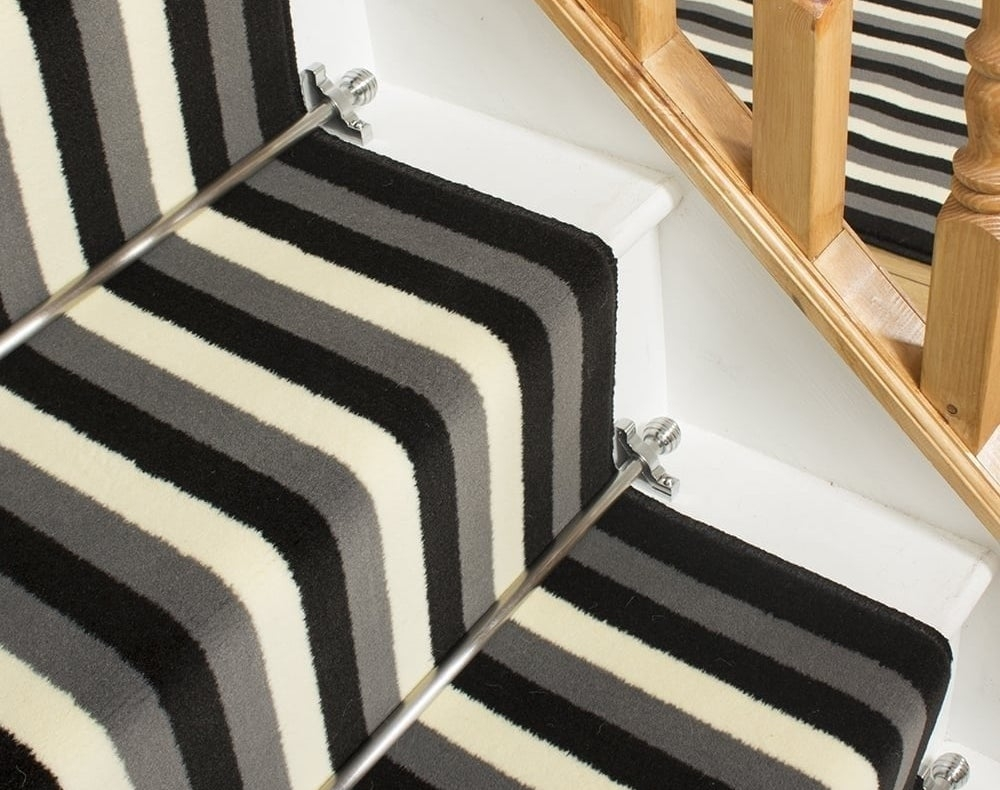 How To Fit A Stair Runner 10 Step Guide Runrug® Blog   Fitting Sisal Carpet On Stairs   Seagrass   Herringbone Carpet Runner   Grey   Seagrass Stair Runners   Stair Tread