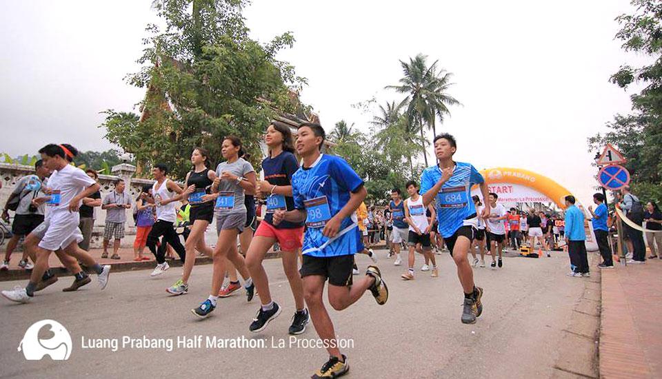 "Luang Prabang Half Marathon 2014: Viva ""La Procession"" in Laos"