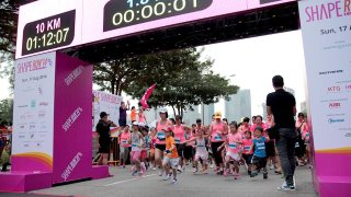 The 9th Shape Run 2014 had Ladies Painting the Town PINK with Zumba, Lucky Draws and More!