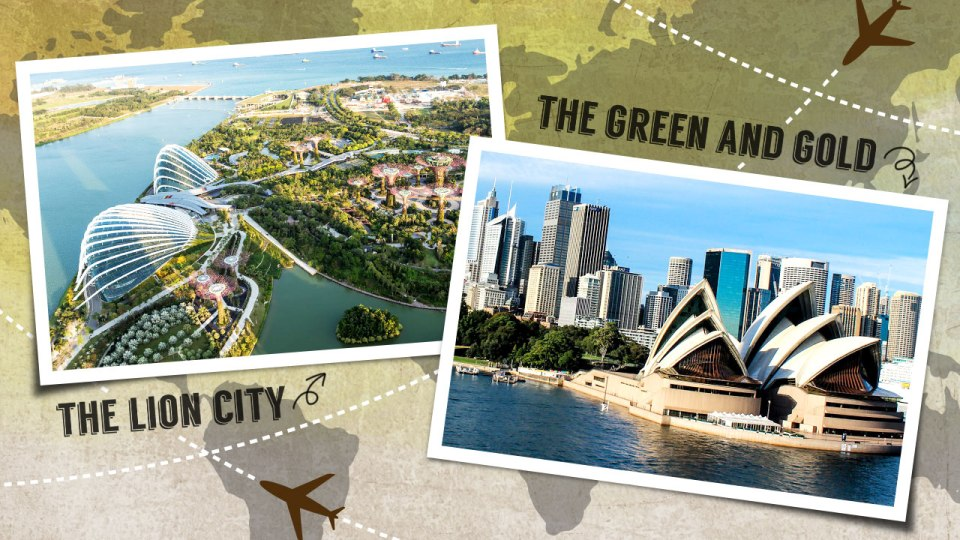 Running in Different Countries: The Lion City vs The Green and Gold