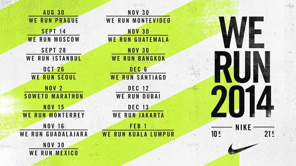 Nike We Run Series 2014 Launches Worldwide – But Not in Singapore