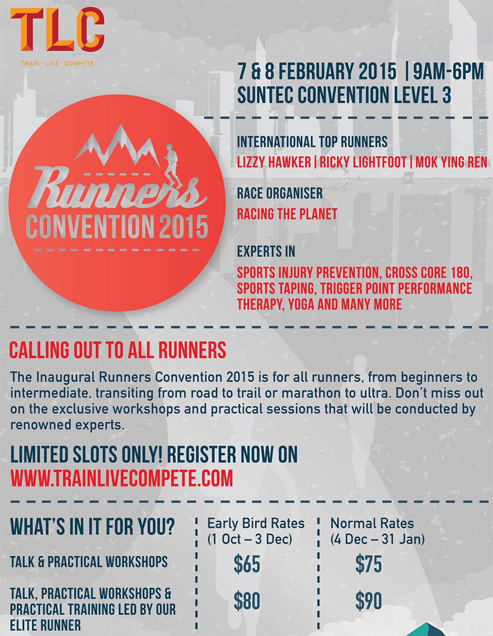 Runners Convention 2015: Must-Visit Event Brings International Top Runners to Singapore!