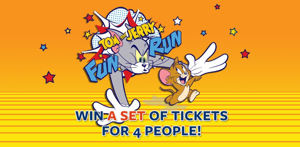 Tom and Jerry Fun Run 2015: Win a Set of Tickets for 4 People!