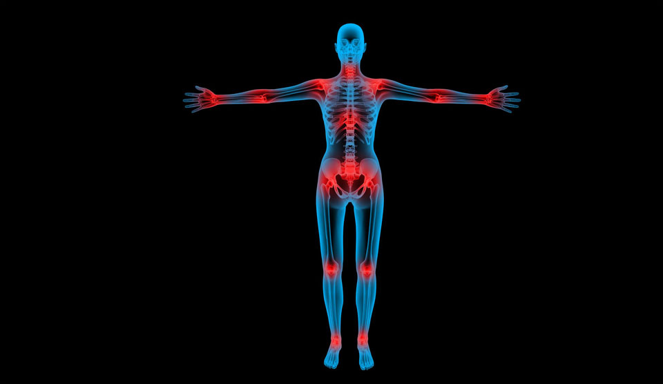 How do joints manifest pain and suffering?