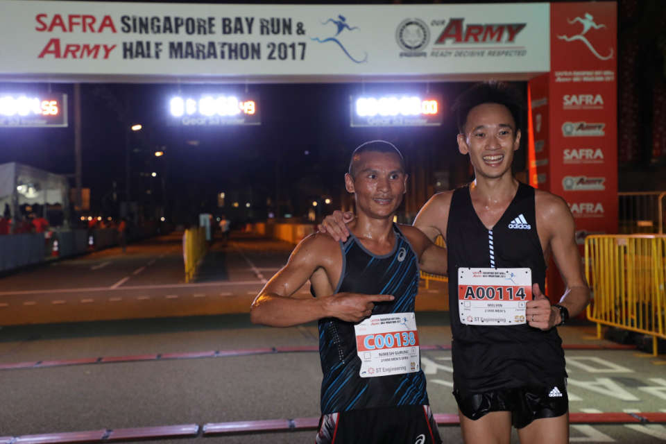 SAFRA Singapore Bay Run & Army Half Marathon 2017 Results