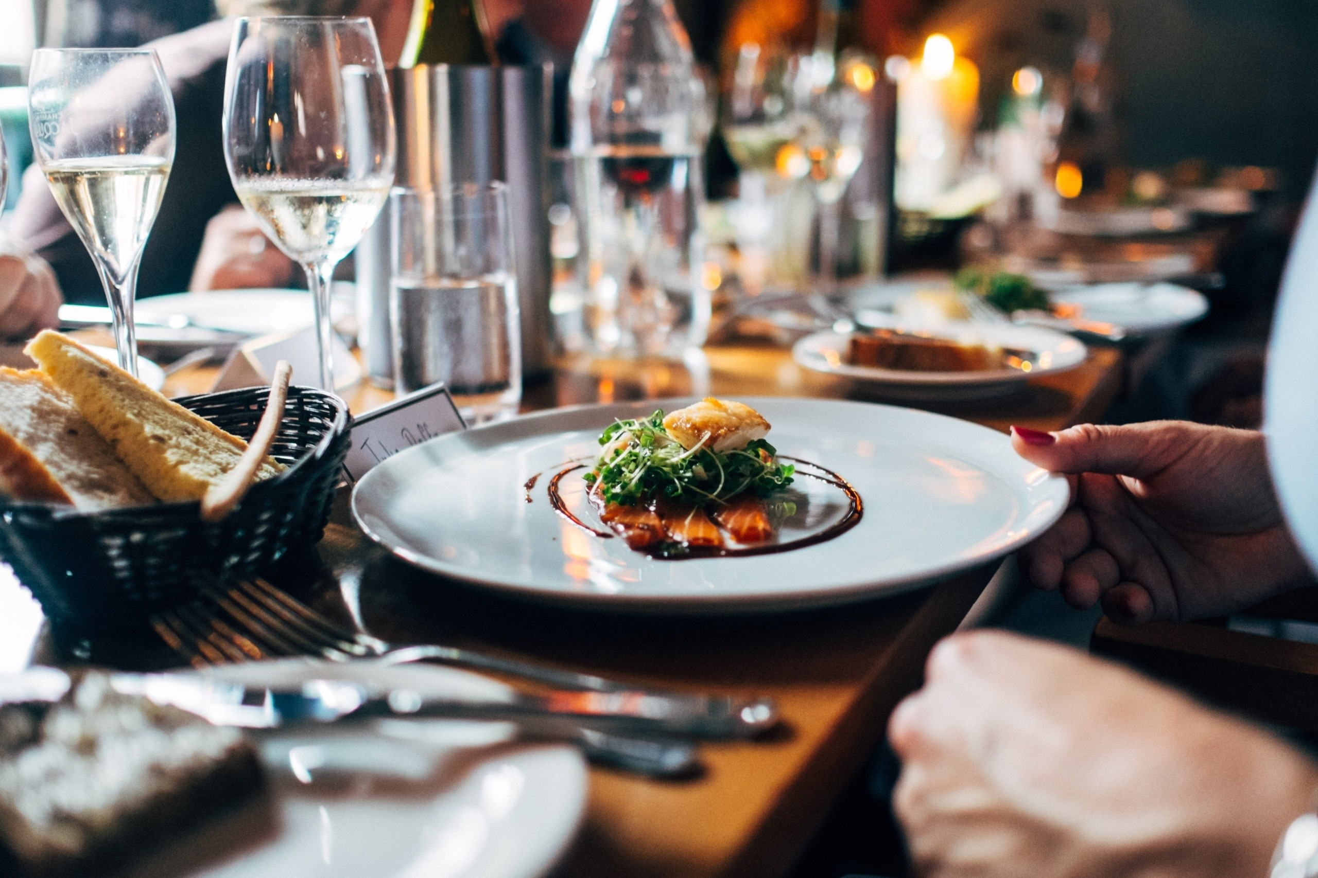 food being served at a restaurant - Using Technology To Power Your Food Business