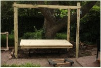 How to Build a Hanging Bed - Easy DIY Outdoor Swing Bed to ...