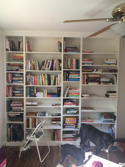 DIY Ikea Billy Bookcase Built In Bookshelves Part 2  Run To Radiance