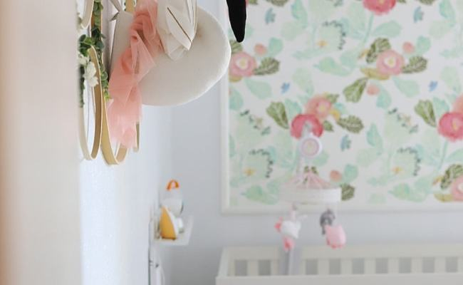 Beautiful Floral Theme Nursery Baby Girl Nursery With