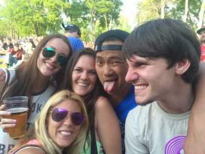 Josh is the one with his tongue sticking out :)