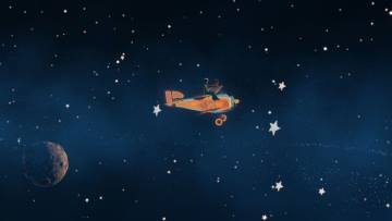 In viaggio tra i pianeti, in una scena de Il piccolo principe
