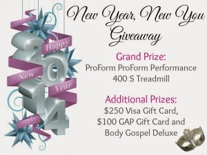New Year New You GIVEAWAY: Treadmill and Other FAB Prizes Up For Grabs