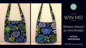 "Win A Vera Bradley ""Where's Mickey?"" Hipster"