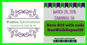 NEW Discount Publix Savannah Women's Half and 5k