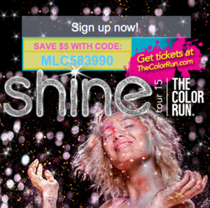 The Color Run Discount 2015 Shine Tour