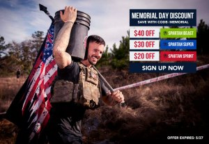 Memorial Day Spartan Race Discount and Giveaway