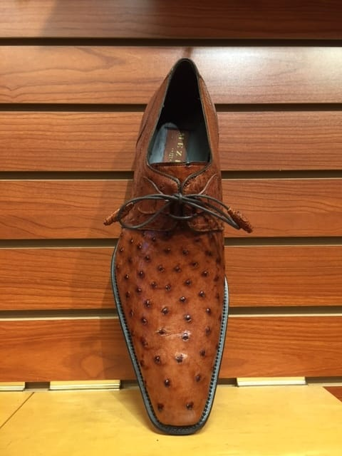 Genuine Ostrich skin shoes by Mezlan