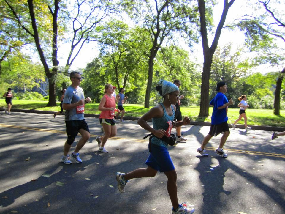 Running on MLK Drive in 2011