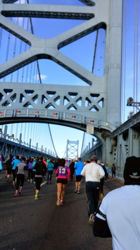 Heading up the bridge!