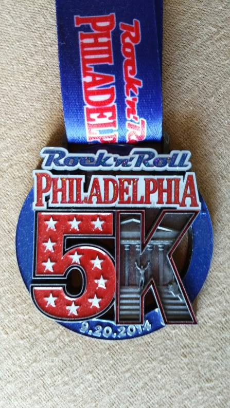Rock and Roll Philly 5K Medal
