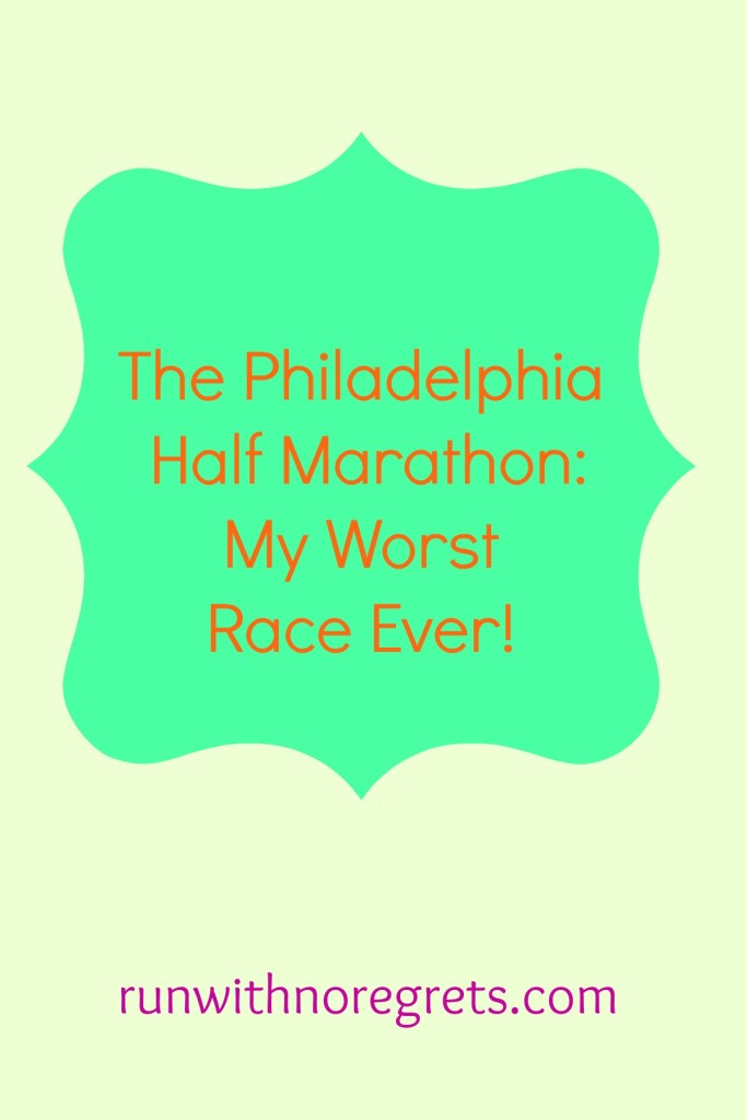 There's one race I had that will always be considered my worst of all time:  The Philadelphia Half Marathon!  Check out why it was so awful and learn from my mistakes!