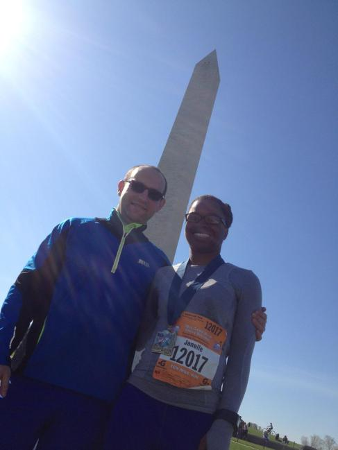 Bret and I at Washington monument